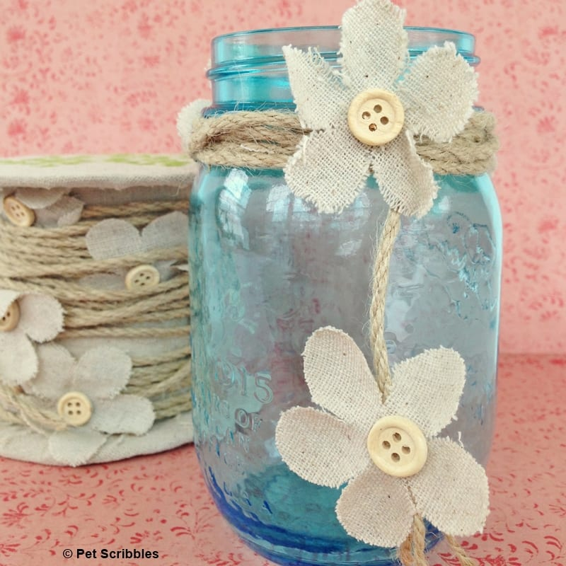 Spring Mason Jar Decor you can make in five minutes!