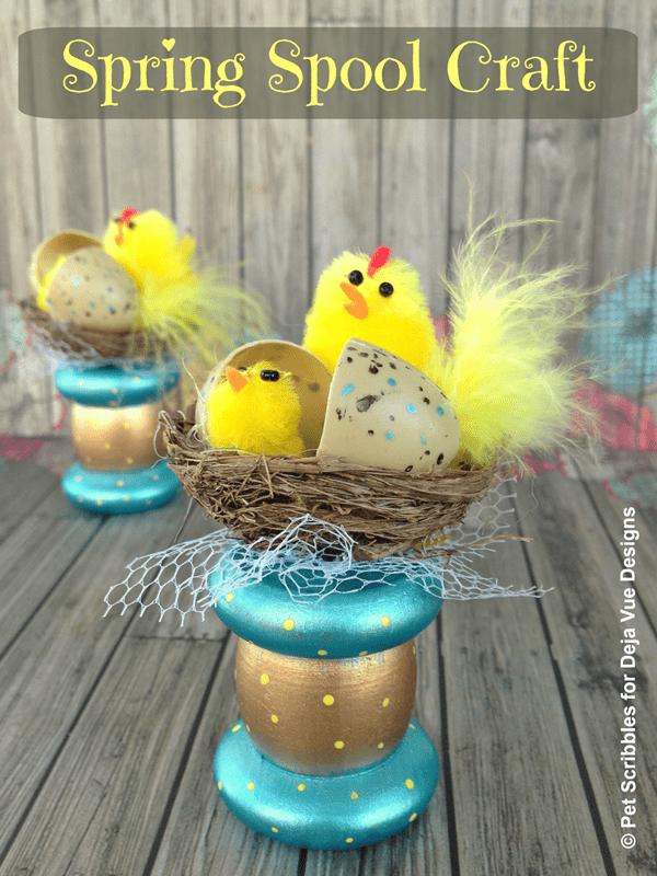 A sweet Spring spool craft!