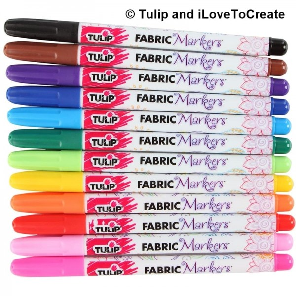 Tulip Fabric Markers by iLovetoCreate