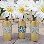 Upcycled Bud Vases from ROC® Skincare bottles