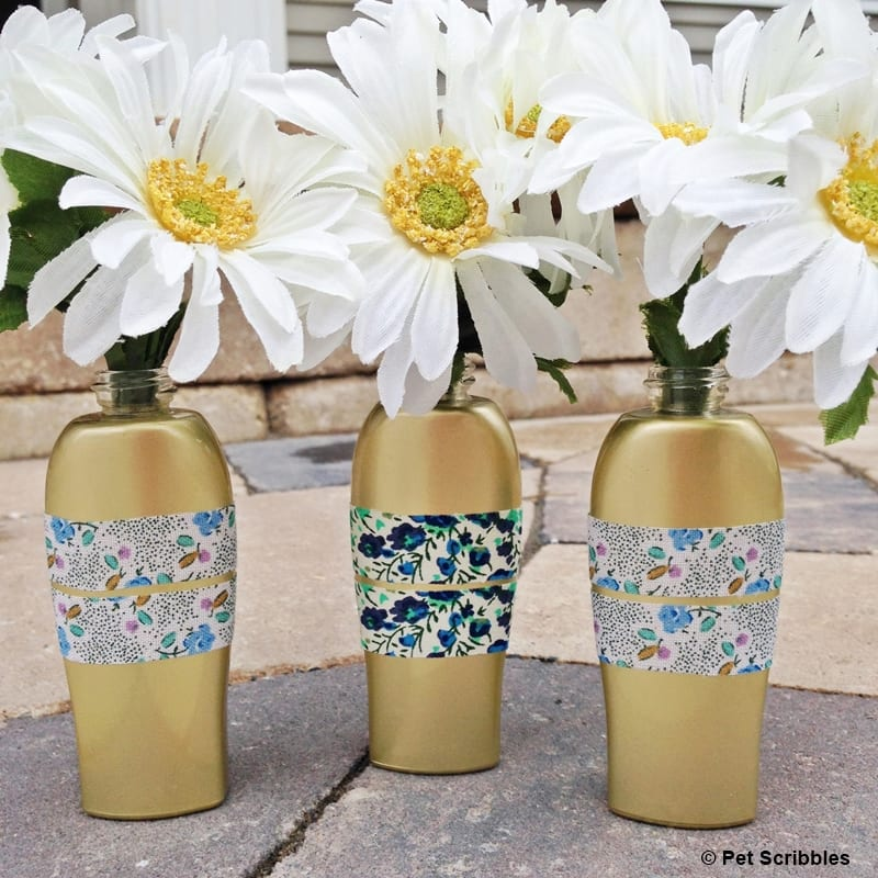 Upcycled Bud Vases from ROC Skincare bottles