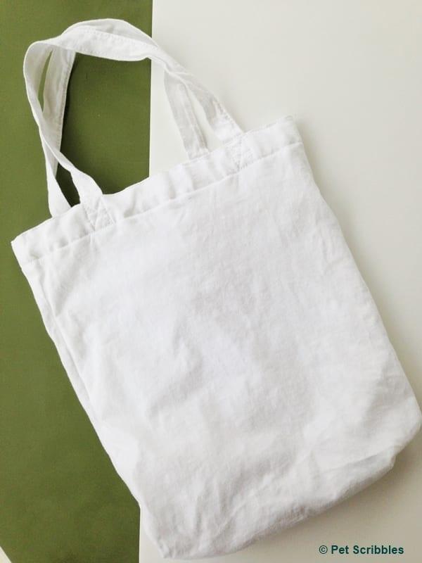 basic white tote bag