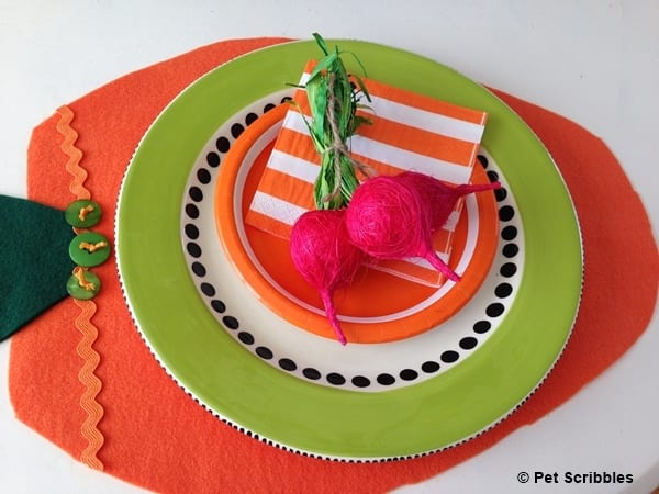 easy felt carrot placemat idea
