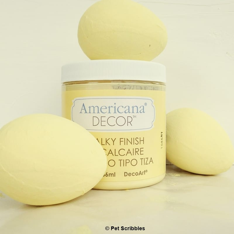 pale yellow chalky paint eggs