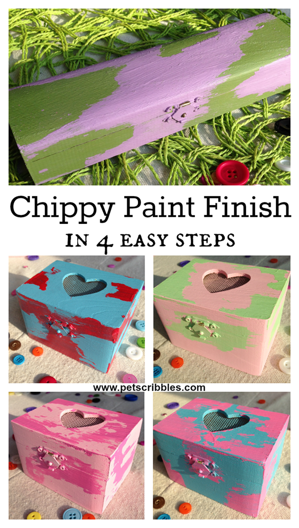Chippy Paint Finish in 4 easy steps
