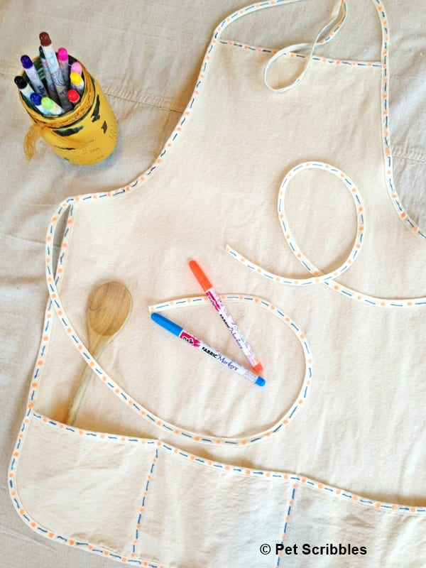 Easy Apron Makeover with Tulip Fabric Markers