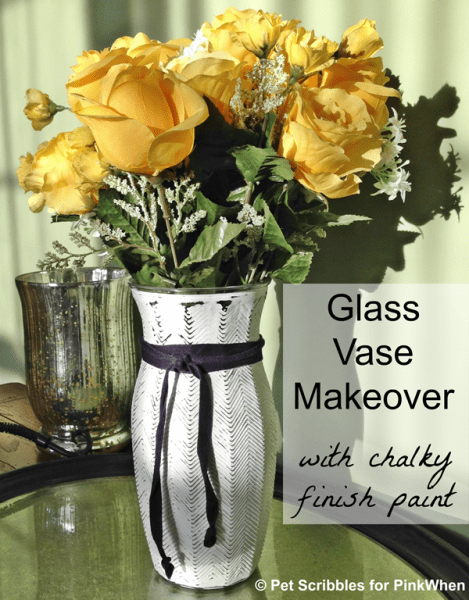 Glass Vase Makeover with chalk paint
