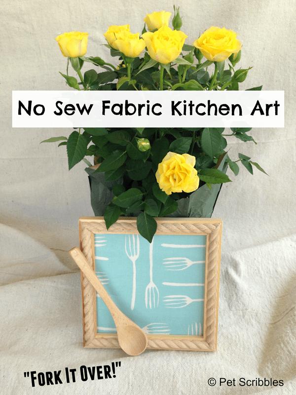 Kitchen Art using Laura Bray Fabric