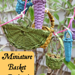 DIY Miniature Basket Garland