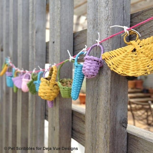 Miniature Basket Garland