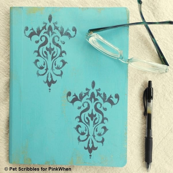altered composition book DIY