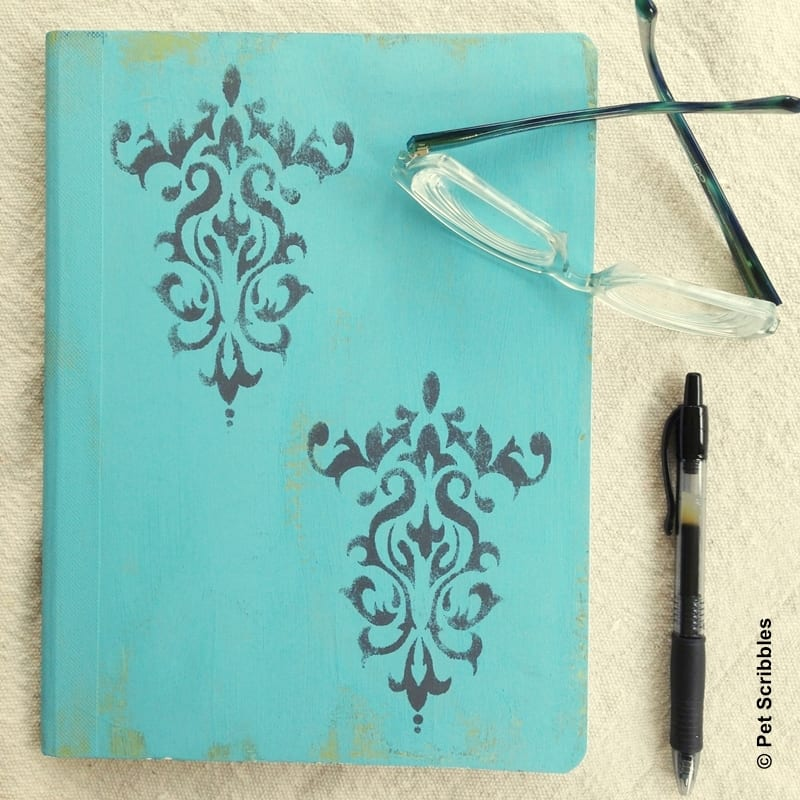 altered composition book tutorial