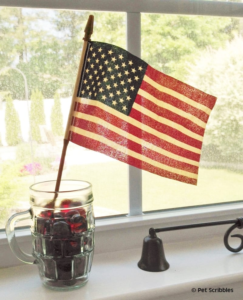 how to create a tea stained flag