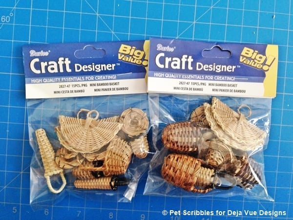 miniature baskets from Darice Crafts