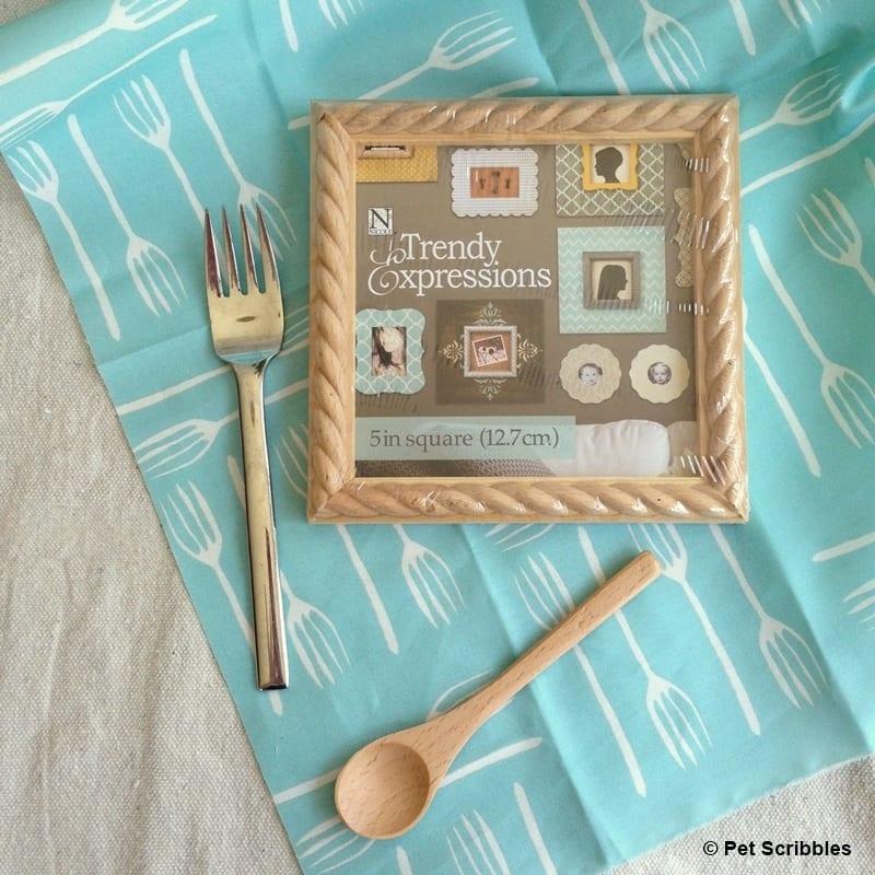 no sew fabric kitchen art