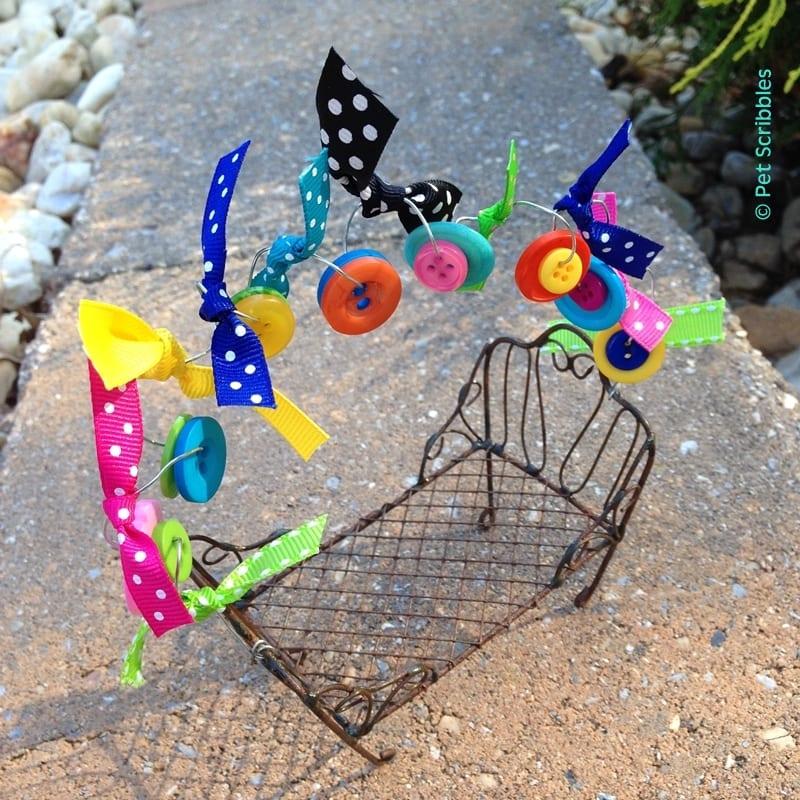 Fairy Garden Bench made pretty - DIY
