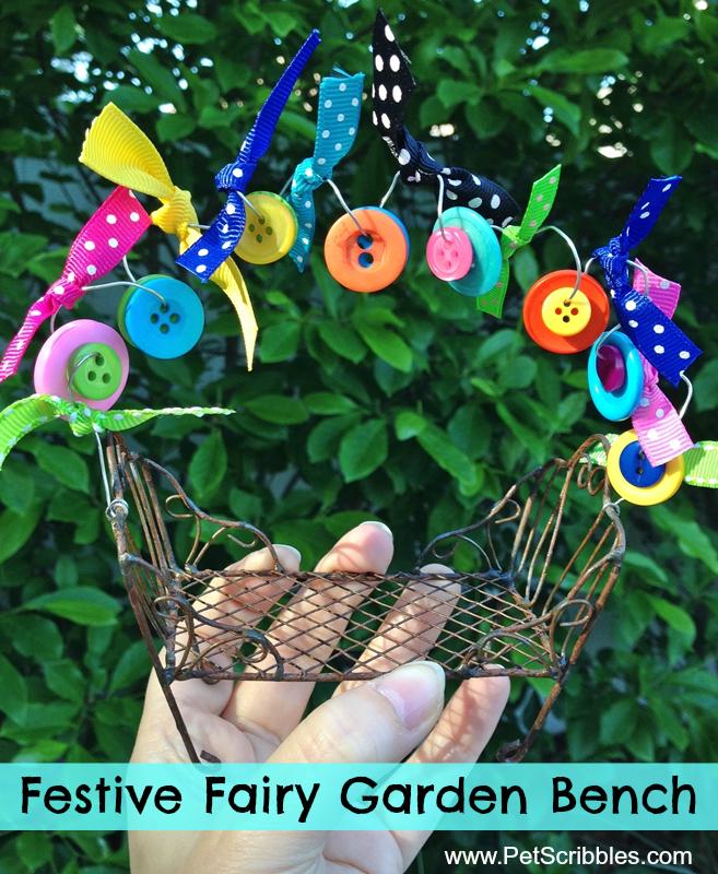 Festive Fairy Garden Bench