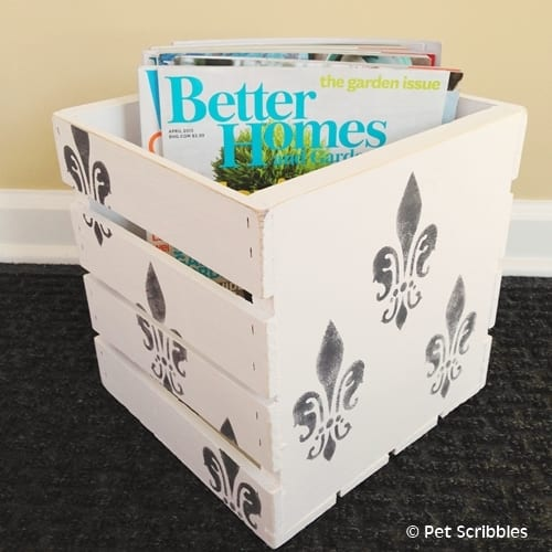 Magazine Storage Crate DIY
