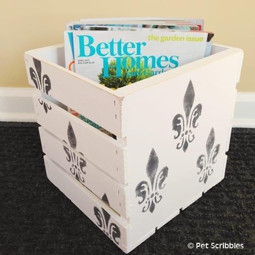 Magazine Storage Crate DIY