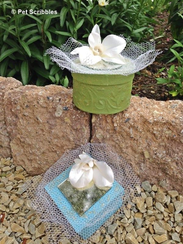 Paper mache box wedding favors tutorial