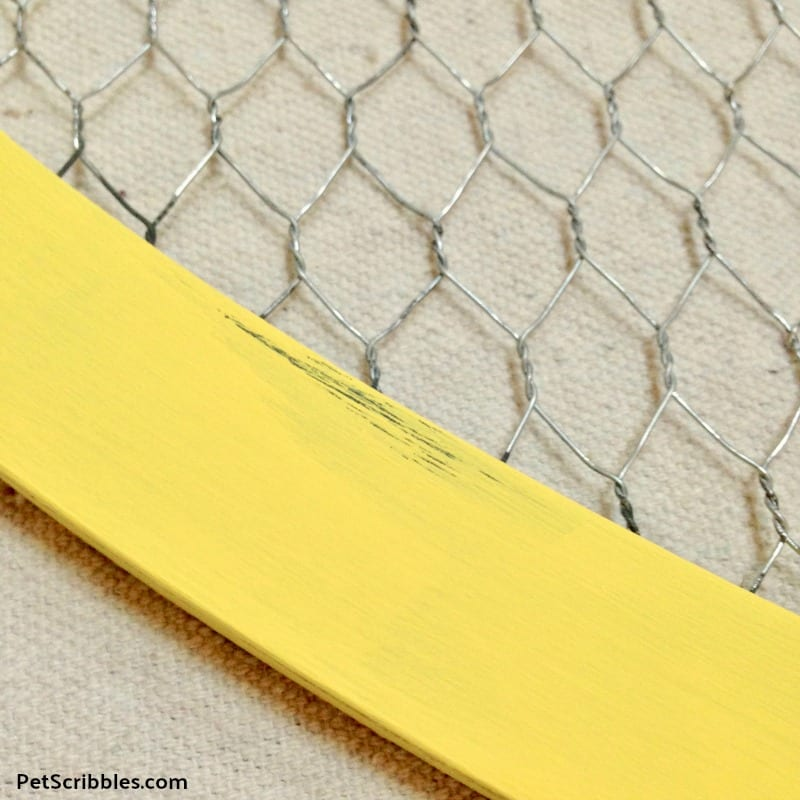 yellow distressed paint