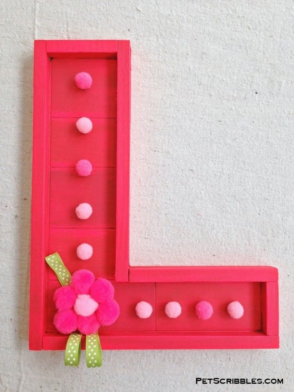 Bright Pink Wood Letter