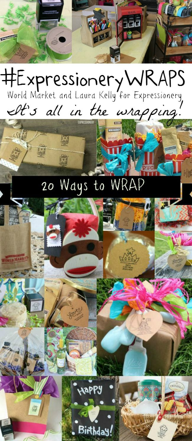 20 Fun Ways to Wrap Gifts with World Market and Expressionery!