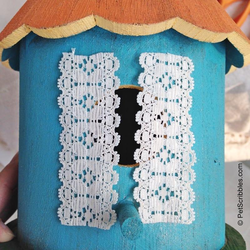 DIY Fairy Garden Lace Curtains