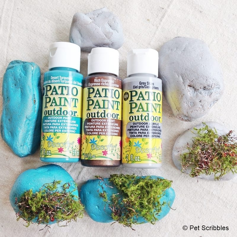 DecoArt Patio Paint on garden rocks