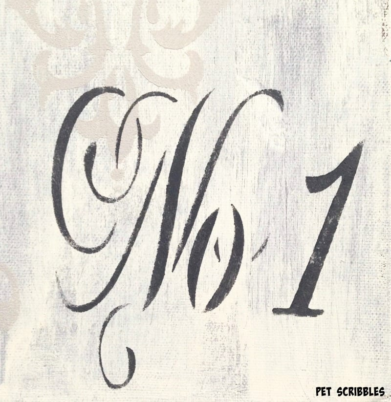 No. 1 french country stencil
