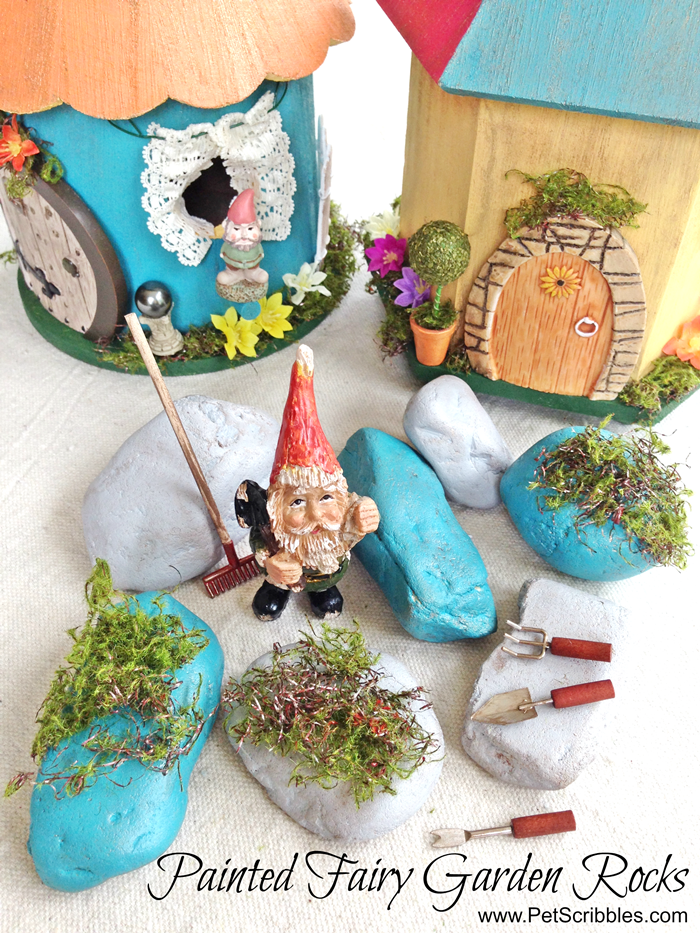 Painted Fairy Garden Rocks