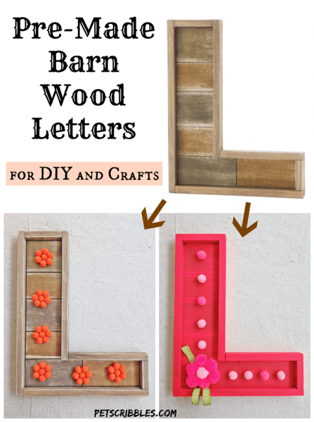Pre-Made Barn Wood Letters for DIY and Crafts