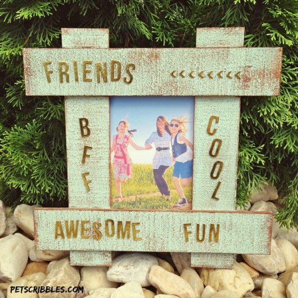 painted hashtag picture frame