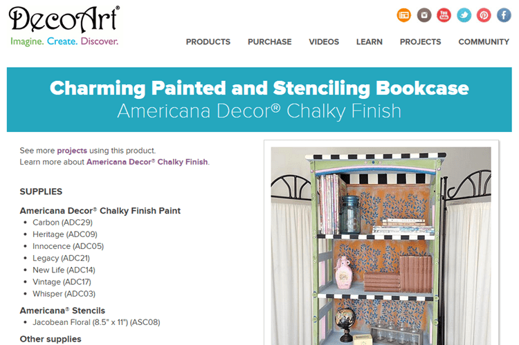 DecoArt Charming Painted Bookcase