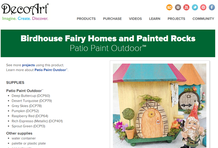 DecoArt birdhouse fairy homes