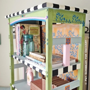 Painted and Stenciled Bookcase