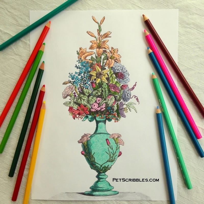Vintage Adult Coloring Pages for free!