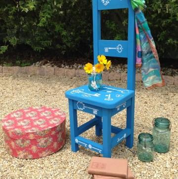 Decorative High Back Chair