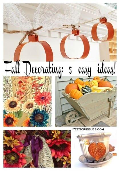 Fall Decorating: 5 easy ideas!