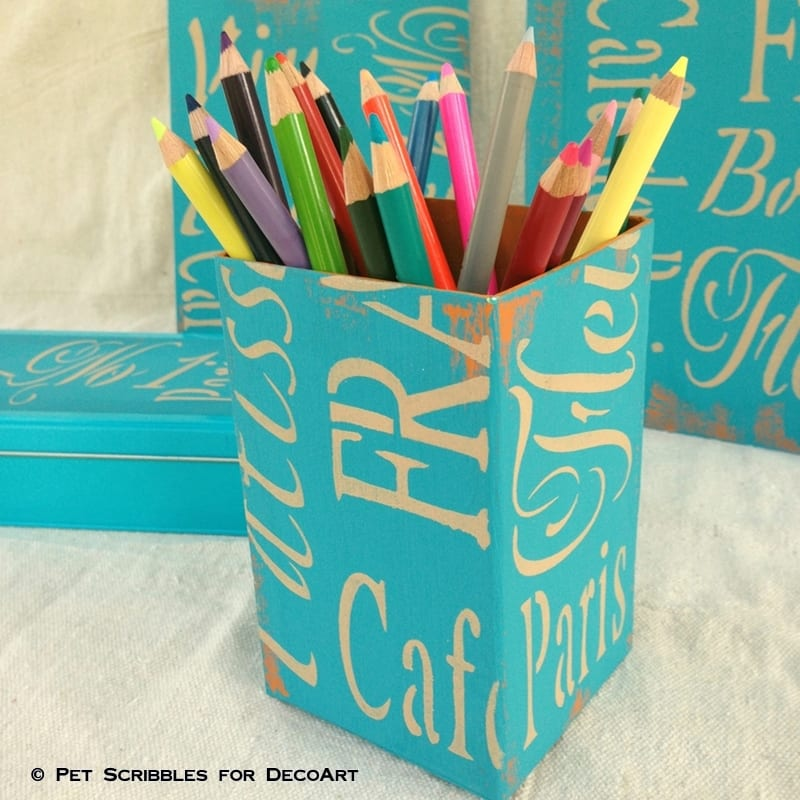 French-Inspired Desk Accessories-pencil cup