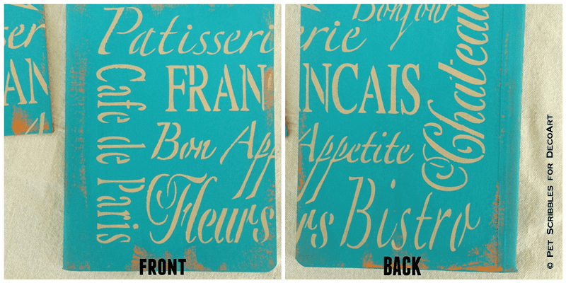 French-Inspired Stenciled Composition Book