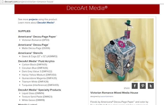 Mixed Media House on DecoArt