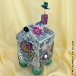 Victorian Romance Mixed Media House (tutorial)