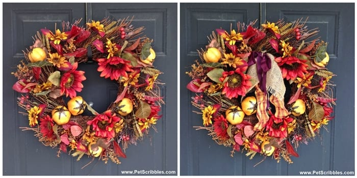 easy update to Fall Wreath