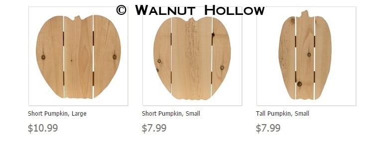 premade wood pallet pumpkins from Walnut Hollow!