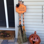 Broom Parking Halloween Decor