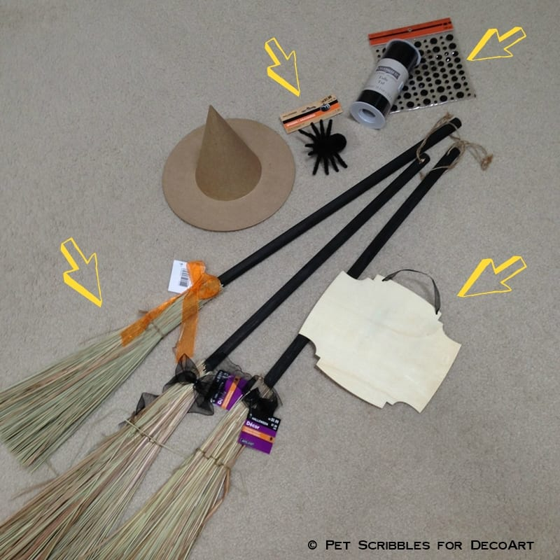 Broom Parking Display craft supplies