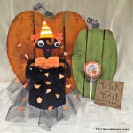 Popcorn Box Candy Corn Doll
