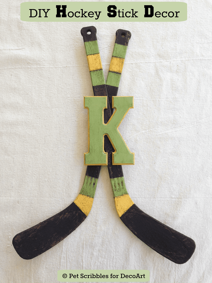 DIY Hockey Stick Decor