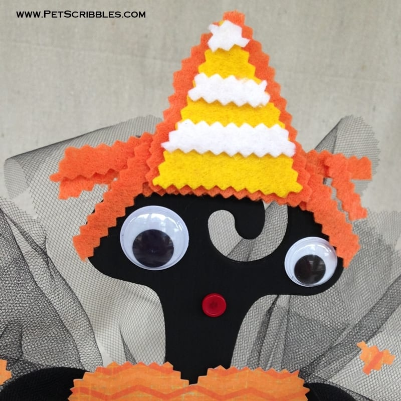 Felt Candy Corn Doll Hat